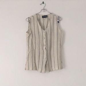 Vintage Striped Vest and Pants Suit
